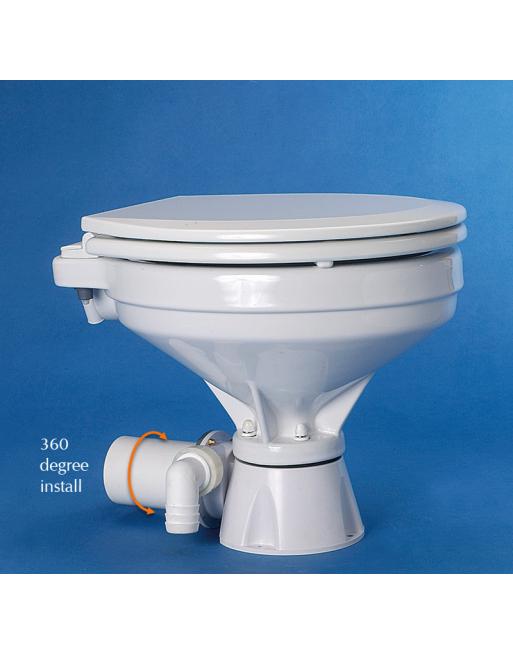 12V Silent Comfort Marine Hydrovacuum Toilet - Ocean Technologies