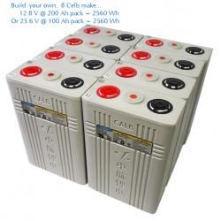 CALB 8 x CA100 Battery Cell 3.2V LiFePO4 Safe