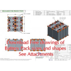 Free Download - Battery Pack Size and Shape Drawings